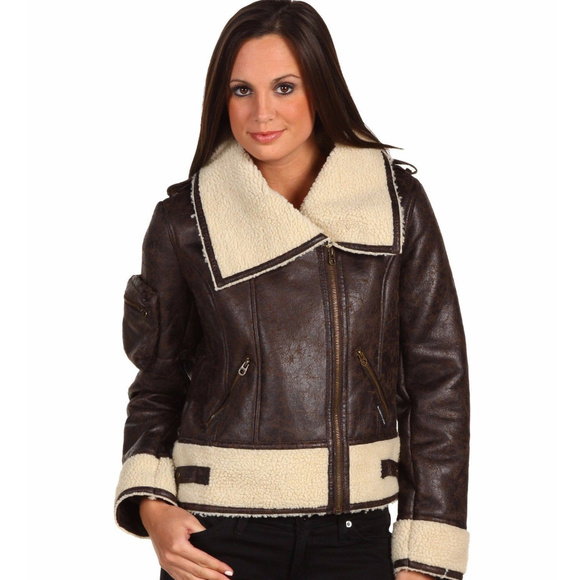 professional latest catch MEMBERS ONLY Faux Shearling Moto Bomber Jacket XL